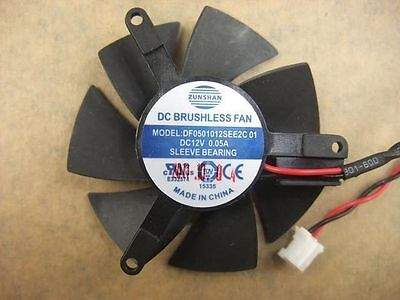 45mm Video Card Fan 39mm DF0501012SEE2C 01  067 • 5.60£