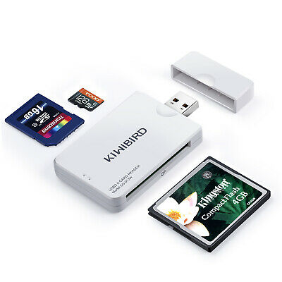 KiWiBiRD USB 3.0 (3.1 Gen 1) CF Compact Flash (UDMA), SDXC, Micro SD Card Reader • 8.99£