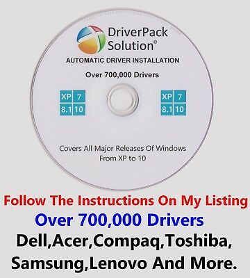 Driver Pack  Update PC Drivers 32/64 700,000 Drivers XP Vista 7 8 8.1 & 10 Dell • 1.75£