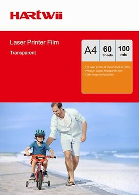 OHP Film Clear A4 Overhead Projector For Laser & Copier Transparency - 60 Sheets • 6.99£