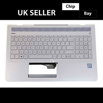Hp 15-cc543na 15-cc Series Palmrest & Keyboard Top Chassis Cover Silver • 79.99£
