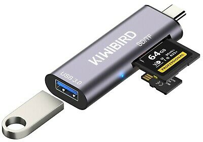 KiWiBiRD USB-C SD Micro SD Memory Card Reader, Type-C To USB 3.0 Female Adapter  • 8.49£
