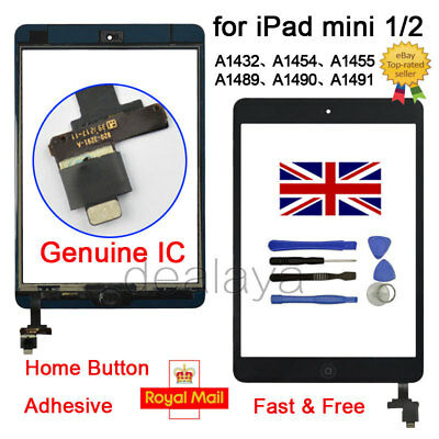 For IPad Mini 1 2 A1432 A1454 A1455 A1489 A1490 A1491 Black Replacement Screen • 10.49£