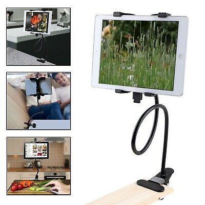 Gooseneck 360 Lazy Bed Desk Stand Holder Mount-iPad 2 3 4 Air Mini Tablet Black • 8.99£