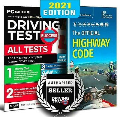 Driving Theory Test & Hazard CD ROM + Highway Code Book. 2020/21 Latest Edition • 8.99£