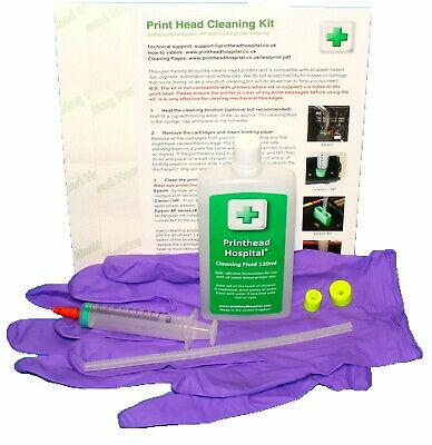 Print Head  Cleaning Kit For HP Printers Unblocks Inkjet Nozzles • 16£