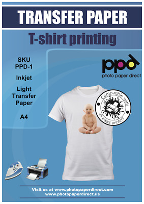 PPD A4 T Shirt Transfer Paper X 10 Sheets Only £6.89 Free P&P • 6.89£