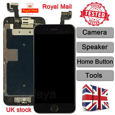 LCD Touch Screen Replacement For IPhone 6S Digitizer Home Button Camera Black UK • 15.92£