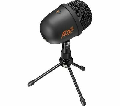 ADX Firecast A01 Microphone - Black - Currys • 24.99£