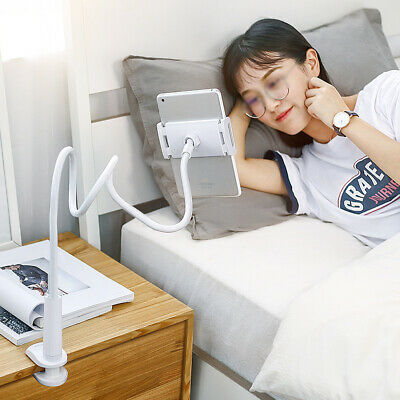 360 Gooseneck Table Bed Clamp Stand Holder Mount For IPad Tablet Flexible Arm UK • 13.95£