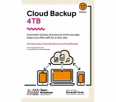 KNOWHOW Cloud Backup - 4 TB 1 Year - Currys • 60£