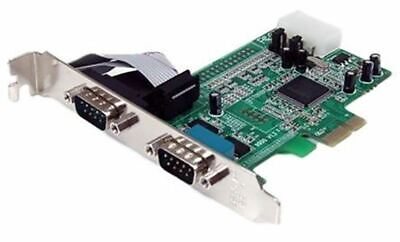 Startech 2 Port PCIe RS232 Serial Board • 104.52£