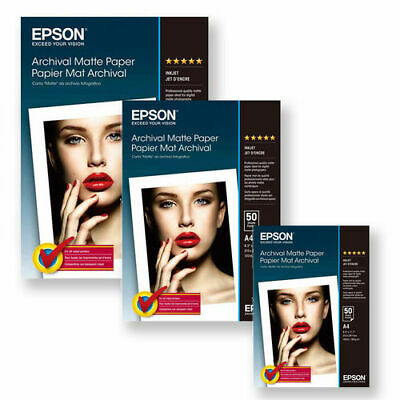 Epson Archival A4 189gsm Premium Matte Finish Inkjet Photo Paper / 50 Sheets • 17.90£
