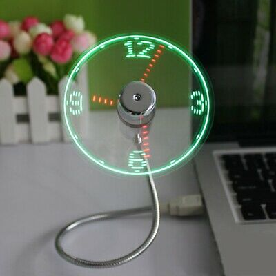 Avon USB Mini Flexible Clock Fan/LED Light • 9.99£