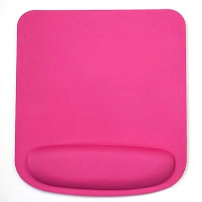 Square Pink Mouse Mat With Wrist Rest Support • 3.99£