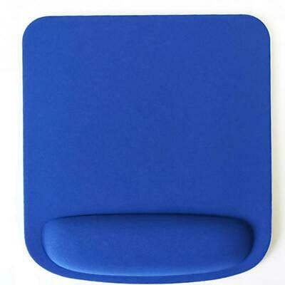 Square Blue Mouse Mat With Wrist Rest Support • 3.99£