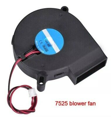 12V DC 7525s 75mm X 25mm Radial Blower Centrifugal Exhaust Printer Fan 2 Pin • 8.49£