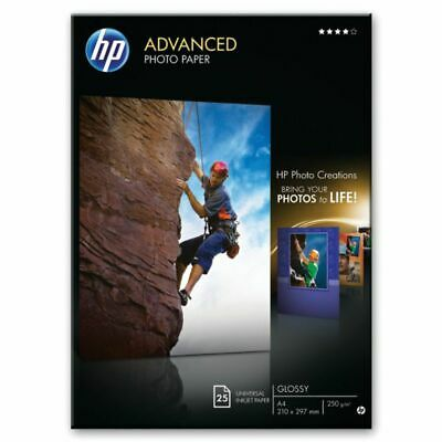 Hp Advanced A4 Gloss / Glossy Inkjet Photo Paper 250gsm - 25 Sheets (q5456a) • 13.55£