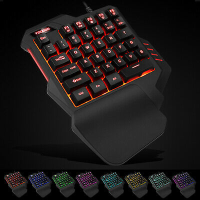 One Handed Mechanical Keyboard Left Hand Game Keypad Game LOL PUBG  Fortnite A • 8.99£