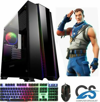 SUPER FAST I3 I5 I7 Desktop Gaming Computer PC 2TB 16GB RAM GTX 1660 Windows 10 • 189.99£