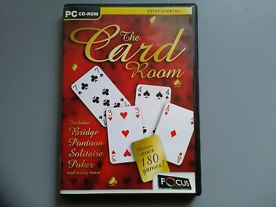 Pc Cd-rom The Card Room Used Good Condition Game • 4.99£
