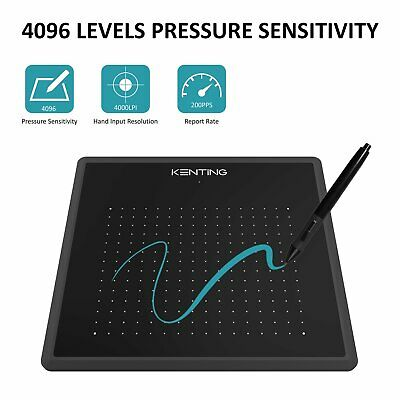 Art Design Digital Graphics Drawing Tablet Board Pad 4096 Level Stylus As Huion • 25.29£