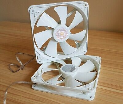 2x Cooler Master 140mm Performance White PC Case Fan, 3 Pin, Brand New/OEM • 8.99£