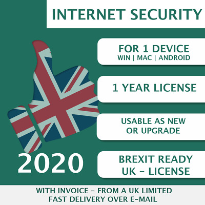 Kaspersky Internet Security 2020 [1 PC, 1 Device, 1 User - KEY - ESD] • 7£