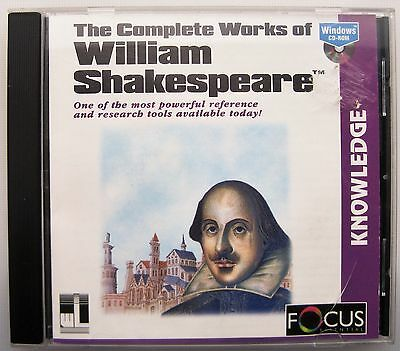 The Complete Works Of William Shakespeare On Pc Cd-rom • 4£