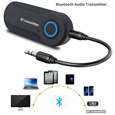 USB Bluetooth 4.2 Stereo Audio Transmitter 3.5mm Music Dongle Adapter For TV PC • 6.99£