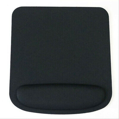 Square Black Mouse Mat With Wrist Rest Support • 3.99£