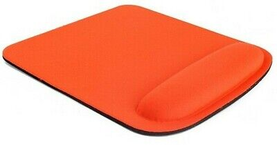 Square Orange Mouse Mat With Wrist Rest Support • 3.99£