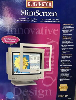 "Antiglare Filter Superslim By  Kensington  For 14 ""to 15 ""Inch Monitor New Boxed • 15£"