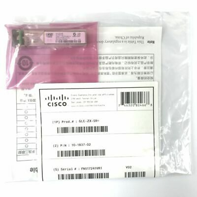 New Sealed Cisco Glc-zx-sm Sfp Transceiver Module Gbic • 49£