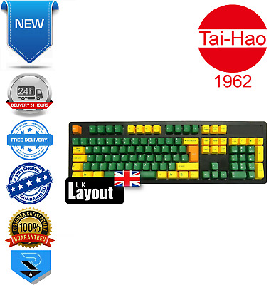 Tai-Hao ABS DoubleShot Keycaps Golden Green UK + US Layout  • 27.51£