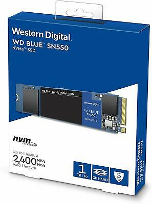 WD Blue SN550 1TB High-Performance M.2 Pcie NVMe SSD, NEW, Lowest £ WDS100T2B0C • 98.95£