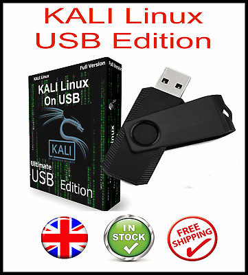 Kali Linux New 2020 Edition On Bootable Usb Pen  + 600+ Hacking Tools • 9.75£