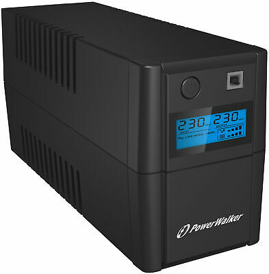 PowerWalker VI 650 SHL Schuko Uninterruptible Power Supply (UPS) Line-Interactiv • 69.99£