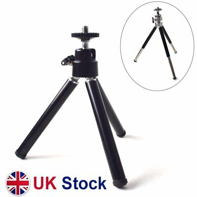 Portable Mini Tripod With Ball Head Tabletop Desktop Stand For Mini Projector • 8.99£