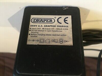 Draper 240V AC Adapter Charged • 12£