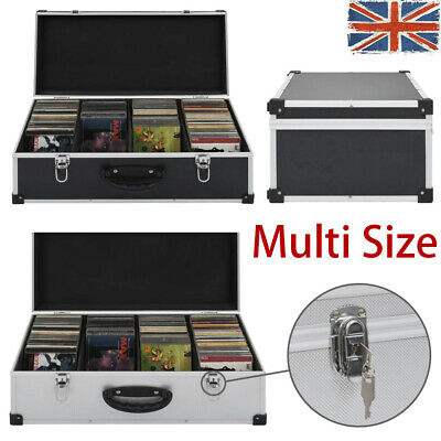 CD DVD Case Lockable Flight Carry Case Box Sleeves Recorder Storage Holder • 30.89£