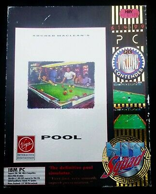 Archer Macleans Pool- Big Box Game For PC • 3£