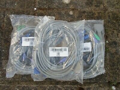 New Dell DP/N 0J5475 Dual KVM PS/2 SCSI VGA Cable Brand New Sealed • 5.50£