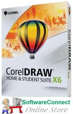 CorelDRAW X6 Home And Student Not X8 Corel DRAW WIN Genuine GUARANTEE • 38.31£