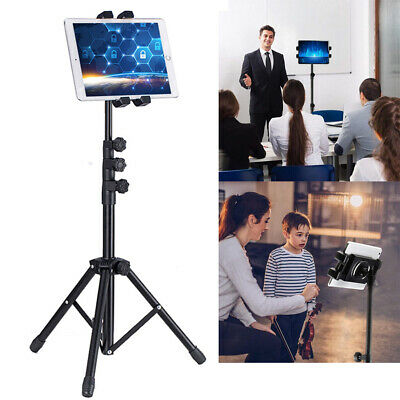 3 Sections Retractable Tablet Tripod Floor Stand For 12.9  Ipad Iphone Live Show • 29.98£