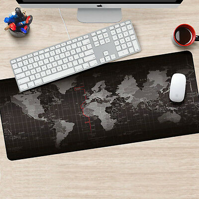 Useful Office World Map Large Cloth Extended Rubber Gaming Mouse Desk Mat UK • 6.99£