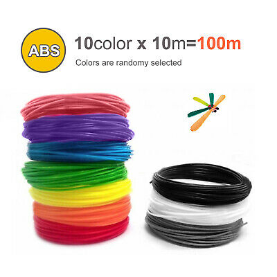 10 Colours 3D Pen Filament Refills 1.75mm ABS Printing Ink Drawing • 10.49£