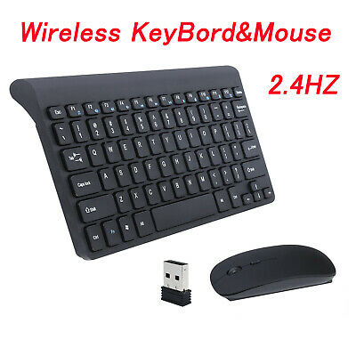 Slim 2.4GHz Cordless Wireless Keyboard And Mouse Set For PC MAC Laptop Tablet • 18.99£