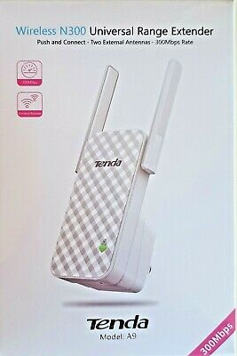 Tenda A9 N300 Wireless WiFi Range Extender 300 Mbps *BRAND NEW* • 16.79£