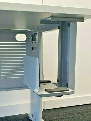 New Under-desk CPU Holder, Adjustable For Height And Width, Silver, Very Strong • 15£